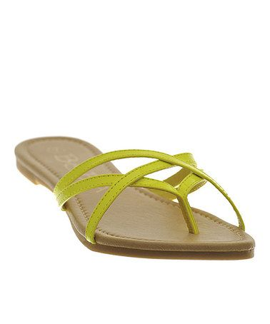 Look what I found on #zulily! Yellow Patent Strappy Sandal #zulilyfinds