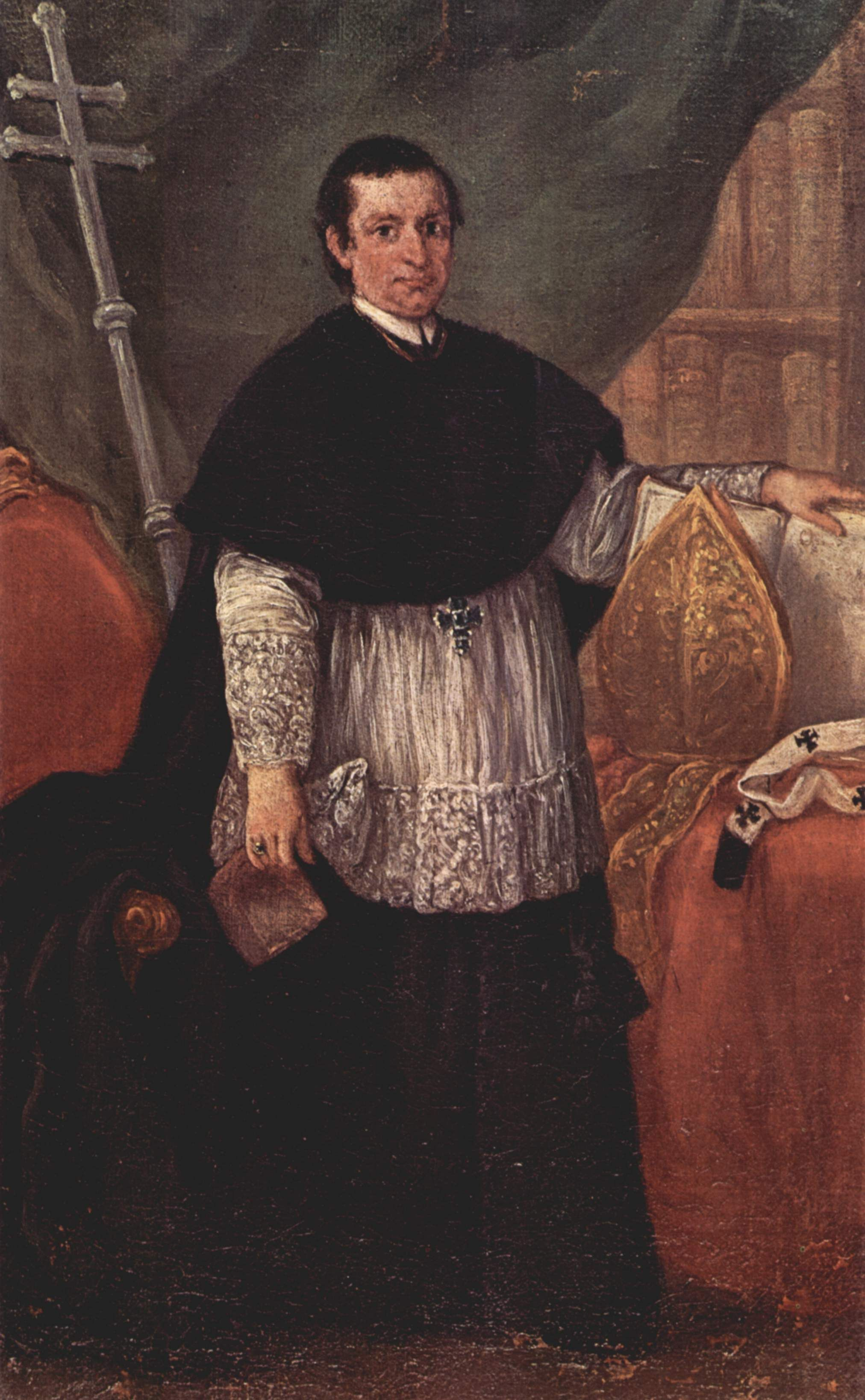 Portrait of Bishop Benedetto Ganassoni - Artist: Pietro Longhi  Completion Date: 1774  Style: Rococo  Genre: portrait  Technique: oil  Material: canvas  Dimensions: 26 x 42 cm  Gallery: Ca' Rezzonico, Museo del Settecento, Venice  Tags: male-portraits, priests-and-sacraments