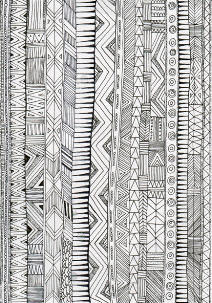 Stay Within The Lines Drawing Www Piiamyller Fi Pattern Art