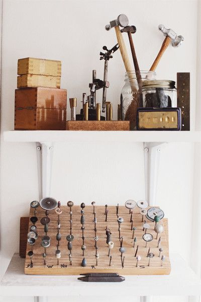Where the magic starts pinterest studio bench and for Garcia s jewelry bench