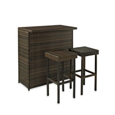 Palm harbor collection 3 piece outdoor wicker bar set - Bed bath and beyond palm beach gardens ...
