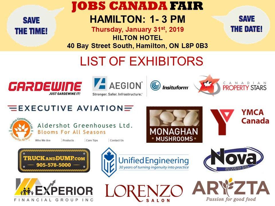 List Of Hiring Companies For Hamilton Job Fair January 31st 2019