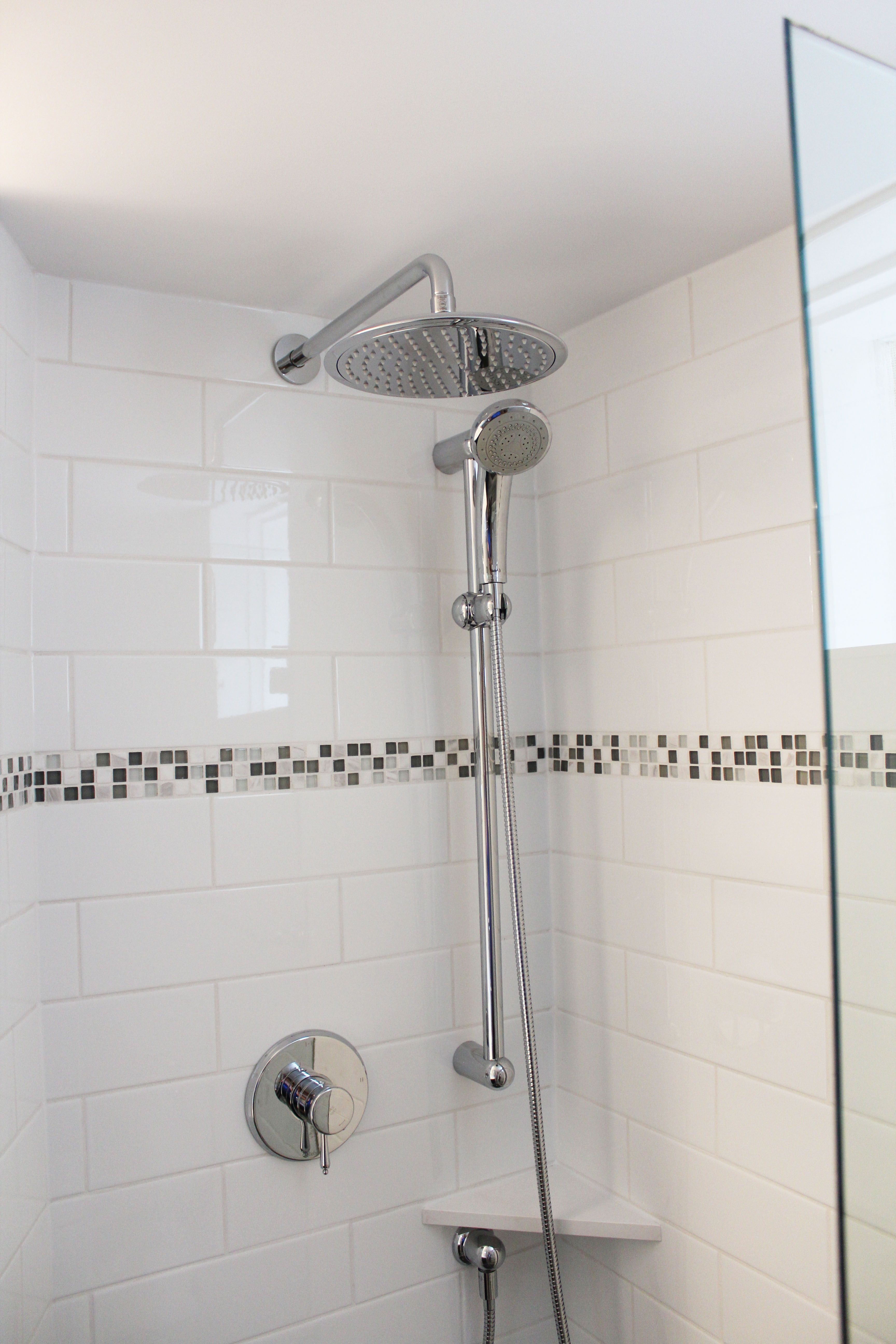 "Bathroom Fixtures Vancouver beautiful bathroom renovation project featuring 4"" x 12"" subway"