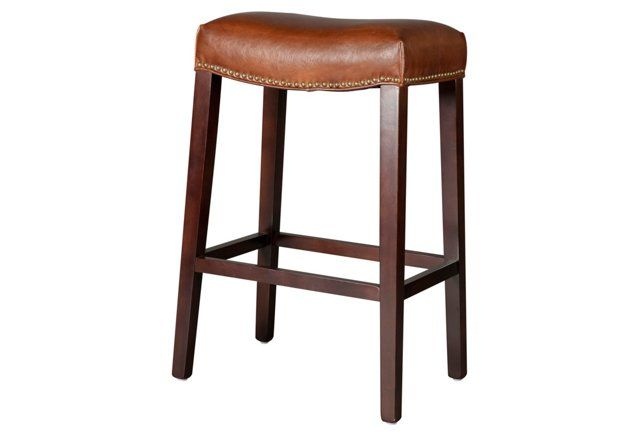 Saddle Leather Stool Light Brown One Kings Lane 199 Luxury Bar Stools Leather Stool Bar Stools