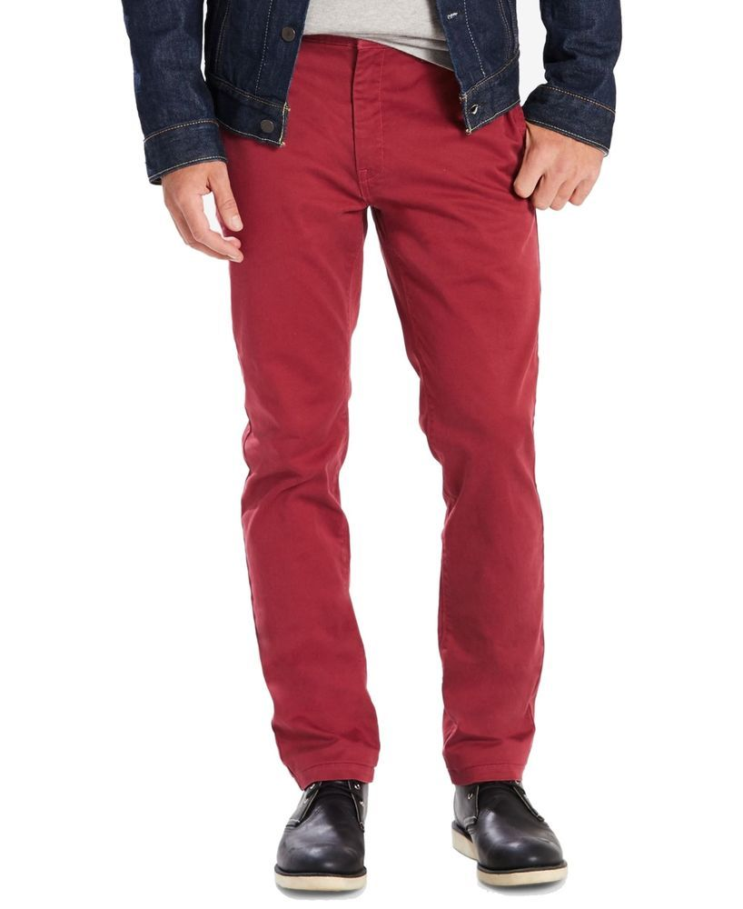 baa99c13161 Levi's NEW Dark Red Mens Size 36x32 Slim Fit Utility Stretch Chino Pants  $69 141 #fashion #clothing #shoes #accessories #mensclothing #pants (ebay  link)