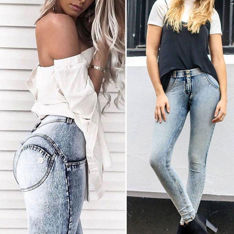 068d21a8d40 Low Waist Pants For Women Push Up Elastic Jegging Pants Lady s Skinny  Bodybuilding Trousers Raised buttocks Pants