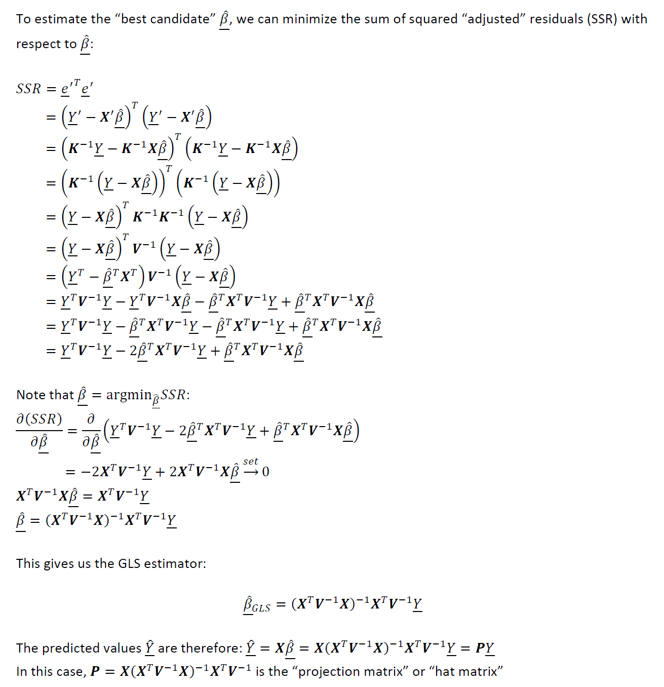 Generalized Least Squares Gls Mathematical Derivations Intuition Data Science Intuition Machine Learning