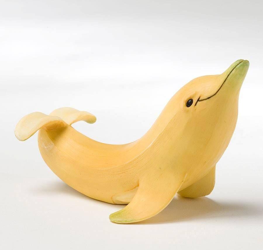 Dolfijn , maar dan een banaan