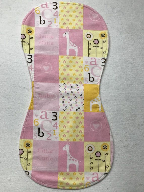 Burp cloth yellow pink baby girl   Etsy boost - facebook