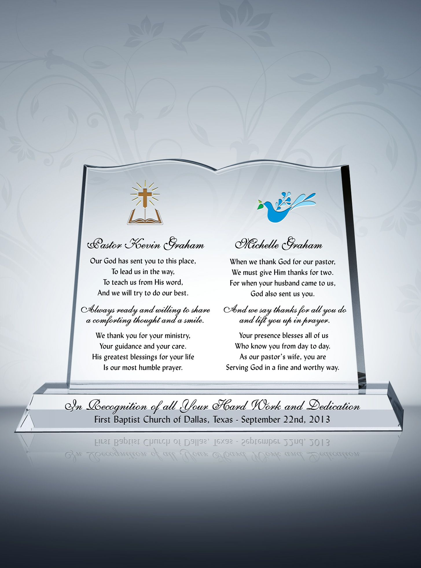 Pastor Wife Gift Plaque Appreciation And Thank You