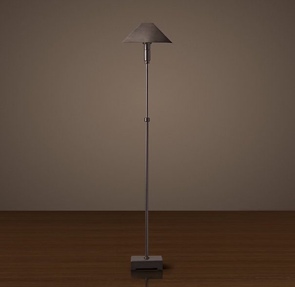 Pyramid Telescoping Floor Lamp - Bronze With Metal Shade, RH $409 ...