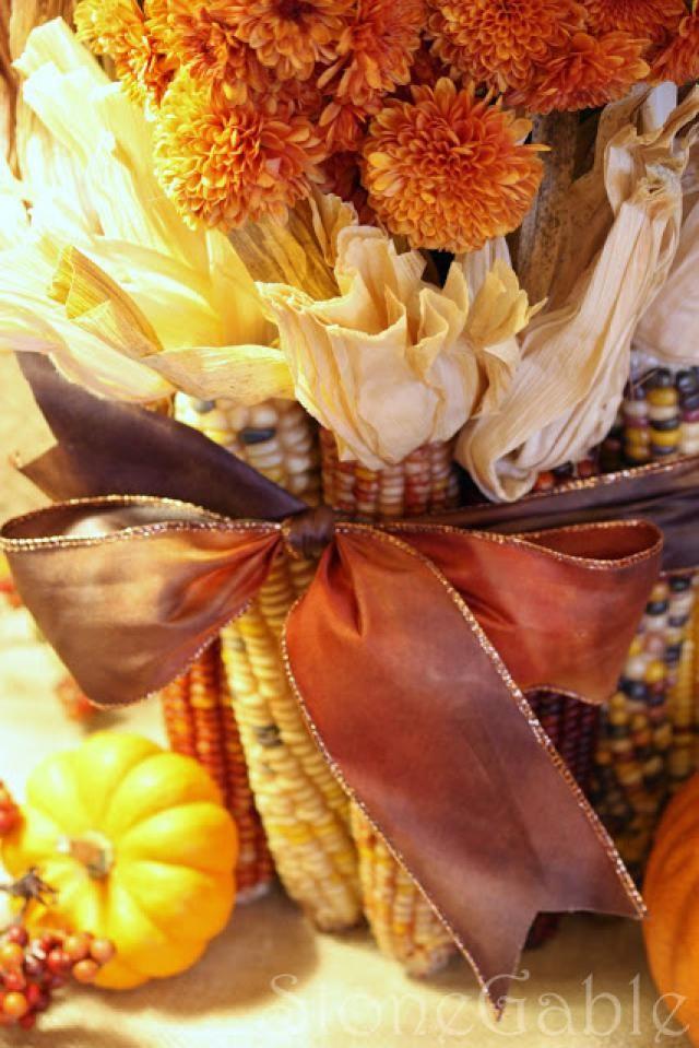 20 creative fall decor ideas indian corn fall decor on favorite diy fall decorating ideas add life to your home id=65653