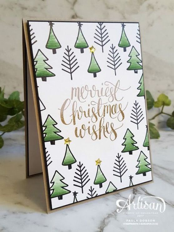 Stampin' Up! Watercolor Christmas stamp set #christmascards #christmas #cards #diy #stampshandmade