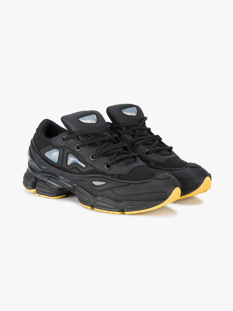 ADIDAS BY RAF SIMONS BLACK OZWEEGO III LACE-UP SNEAKERS.  adidasbyrafsimons   shoes  flats 4cca5df55