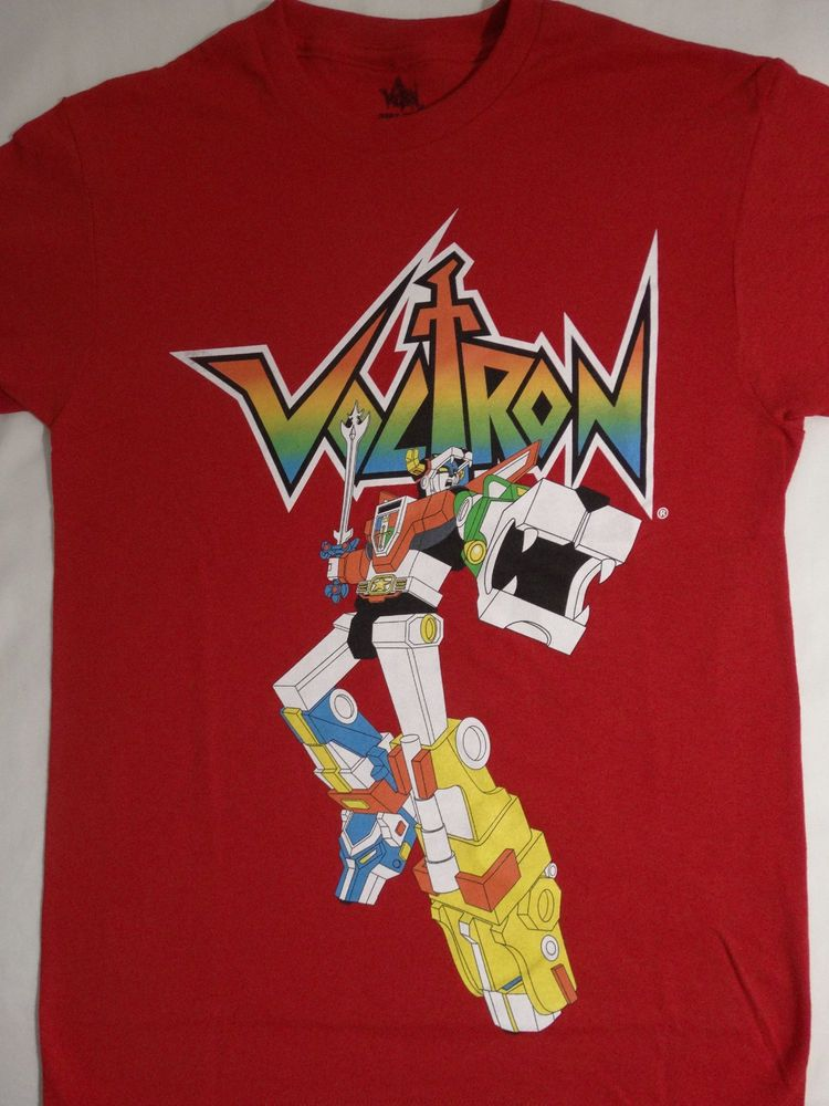Voltron Defender Of The Universe Cartoon Red TShirt