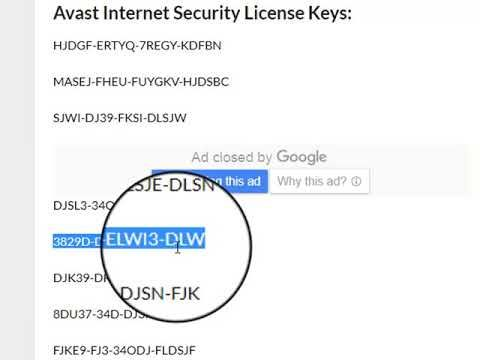 avast internet secruity license key