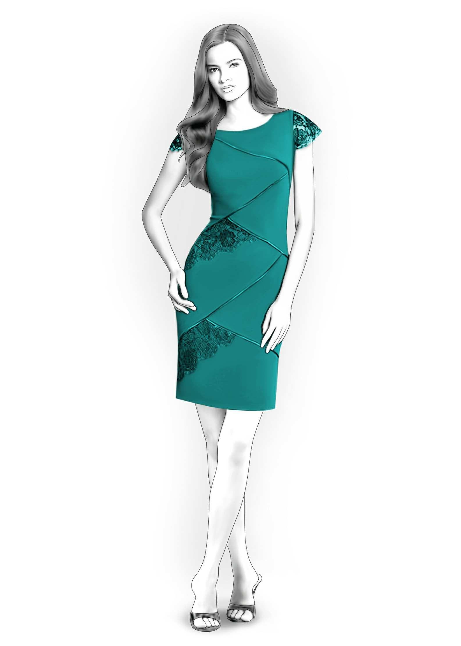Vestido - Patrón de costura #4191 Patrón de costura a medida de ...