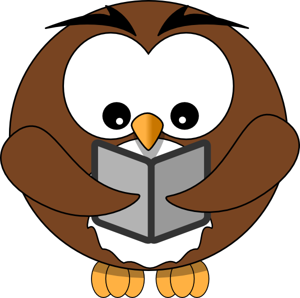 book clip art owl book clip art kid s stuff pinterest rh pinterest ca owl reading clipart free
