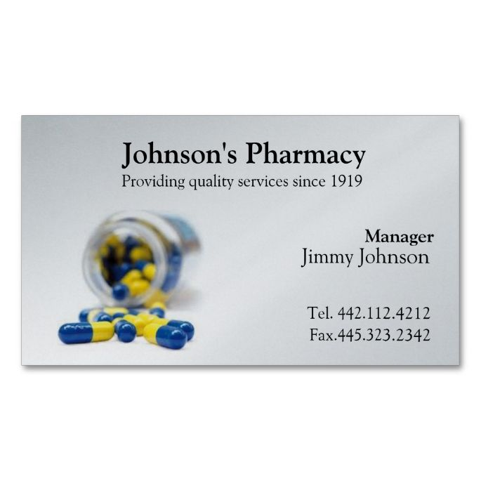 Pharmacy business card pharmacist medical health business card pharmacy business card pharmacist make your own business card with this great design all you need is to add your info to this template colourmoves