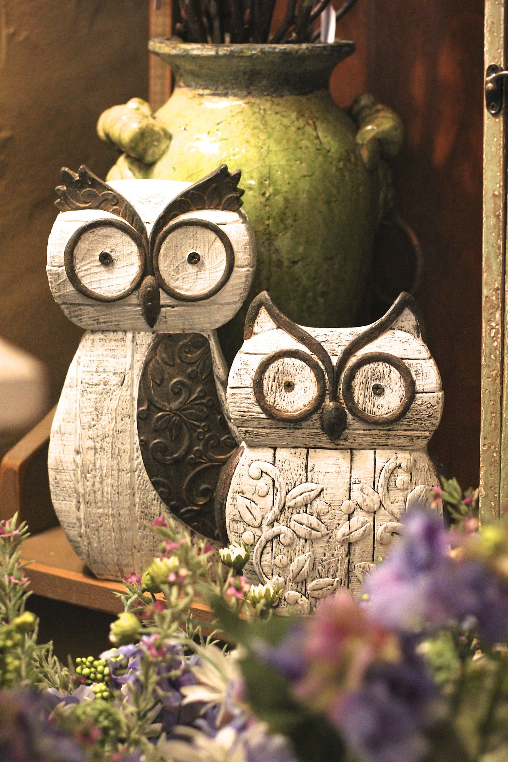 Wooden Owls Home Decor Pinterest Gardens So Cute And 3