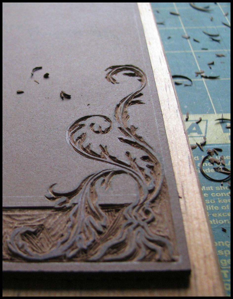 Linoldruck Muster, Rahmen | Stempel | Pinterest | Linoldruck, Rahmen ...