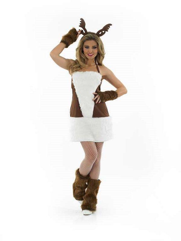 Ladies Christmas Costumes  sc 1 st  Pinterest & Ladies Sexy Reindeer Costume | Halloween | Pinterest | Reindeer costume