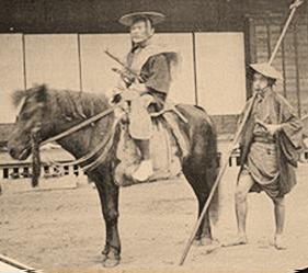 木曽馬 人間 幕末期 首 日本 体高120 130センチ位 戦国時代 幕末 古い写真 古写真