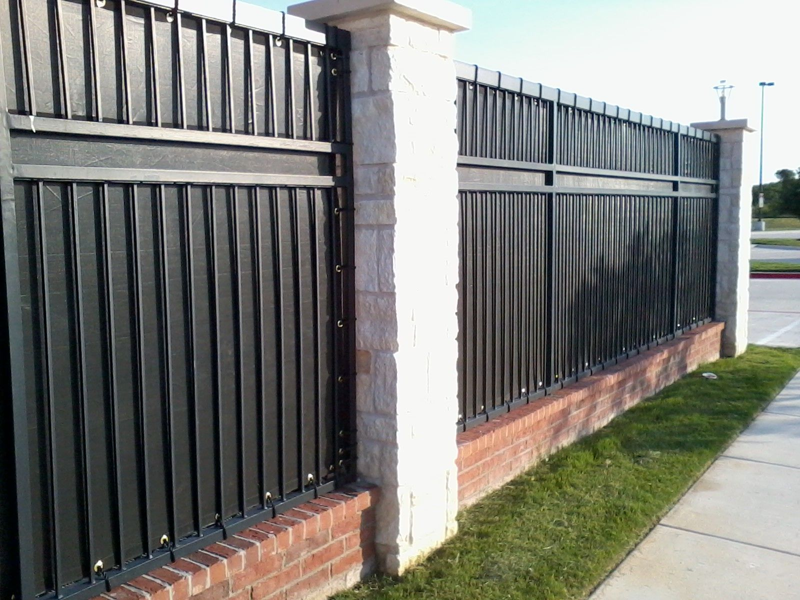 Wrought Iron Fence Privacy Panels Backyard In 2018