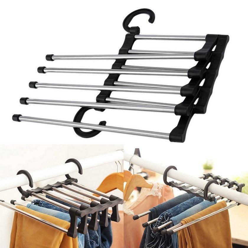 Closet Organizer Hanging Rack Pants Rack Adjustable Closet Organizers Clothes Hanger