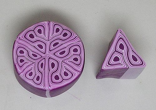 Polymer Clay Purple Kaleidoscope Cane   I used Fimo Classic …   Flickr