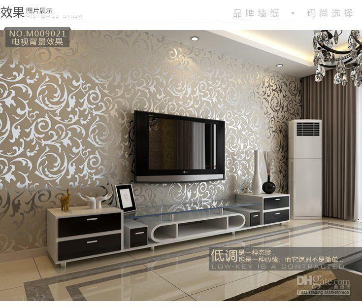 Wholesale European Style Pvc Wall Paper Rolls Wallpaper Suitable