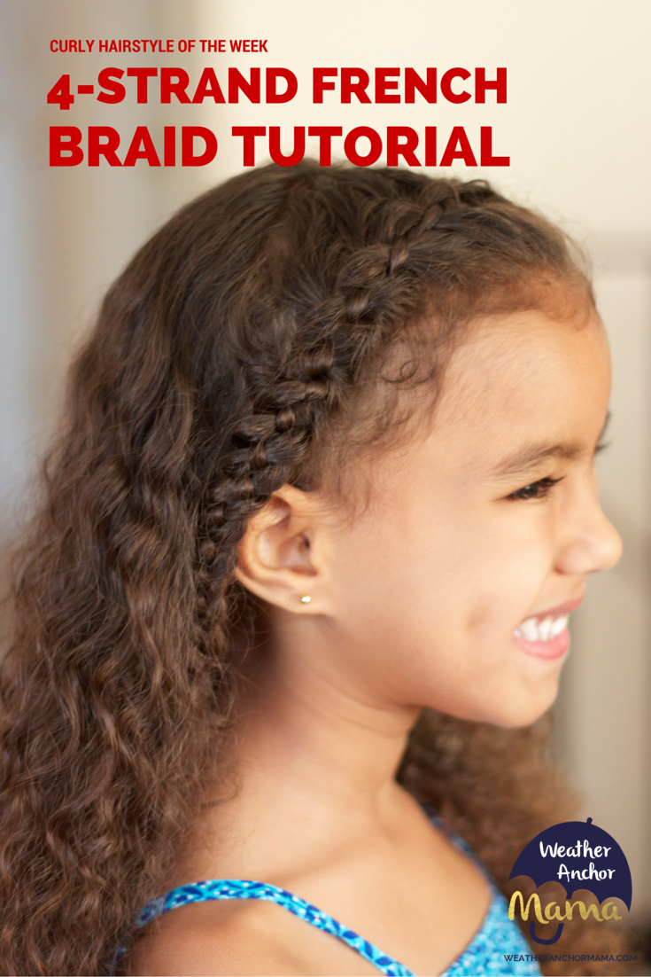 How To Do A 4 Strand French Braid On Curly Hair Curly Hair