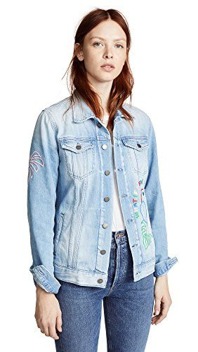 9488f89e SALE PRICE - $597 - MIRA Mikati Women's Candy Bead Parrot Denim Jacket