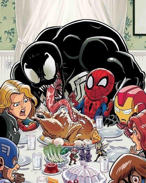 Chibi VENOMIZED Thanksgiving Dinner? LOL