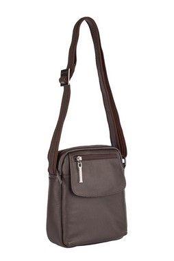 b6a98dd03 Bolsa Louise em couro legítimo café - Enluaze | Bolsas e acessórios de couro