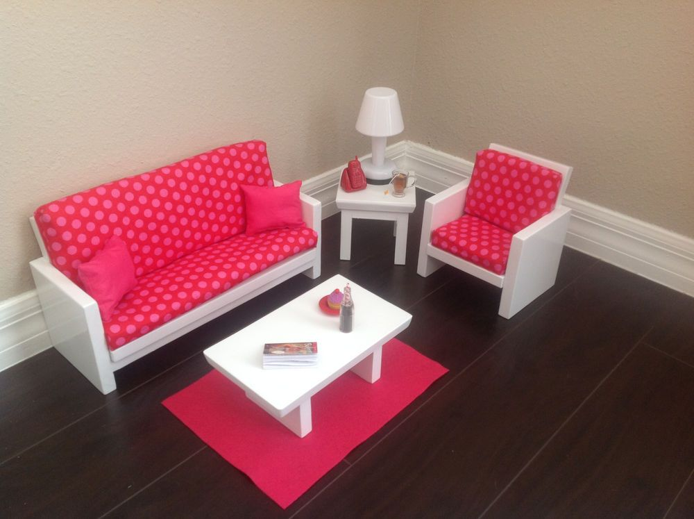 18in Doll Furniture Living Room Set For American Girl Doll Hand