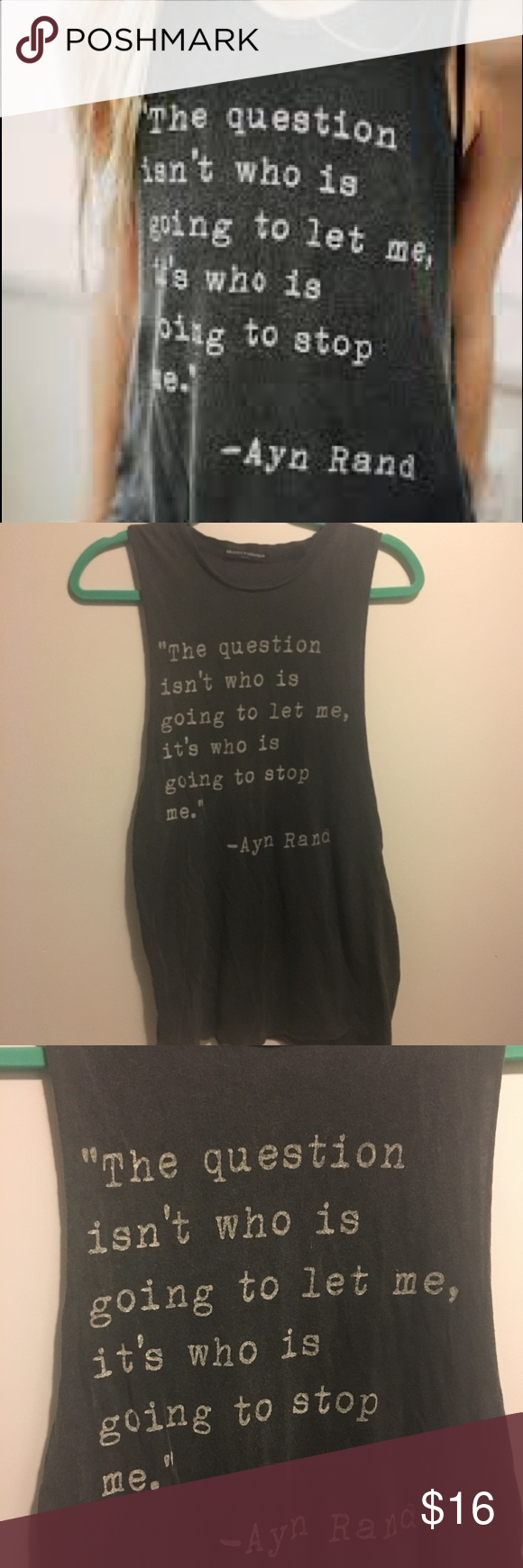 Brandy melville graphic tankos ayn rand quotes graphic tank and