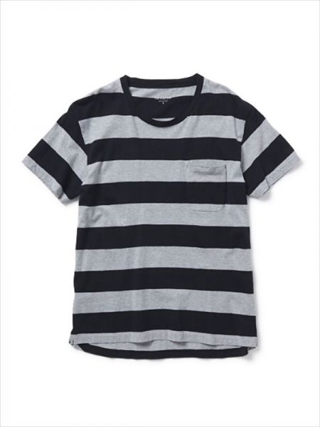 DWELLER TEE SS LOOSE-FIT COTTON WIDE BORDER JERSEY