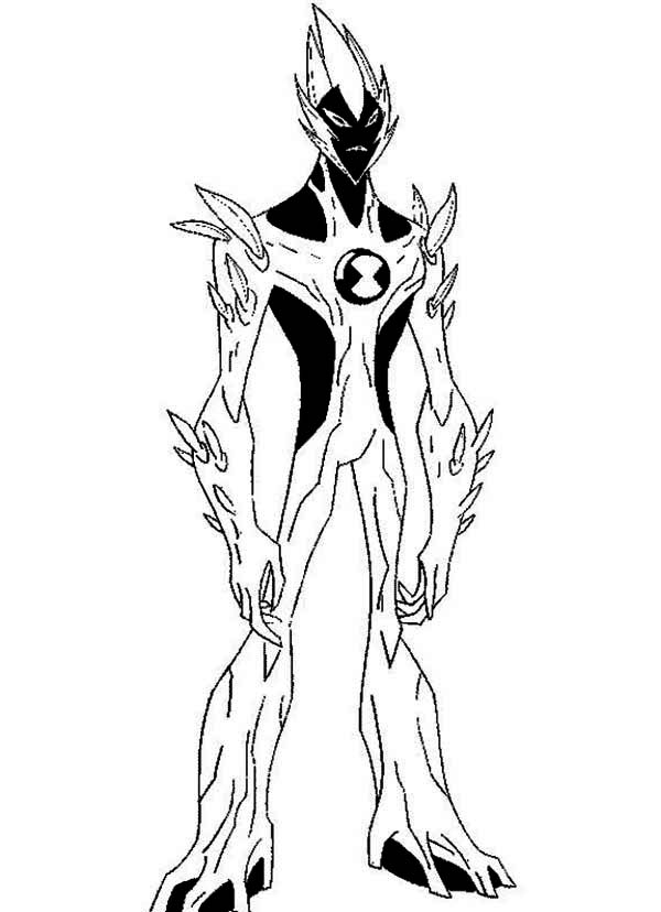 swampfire from ben 10 alien force coloring page  download