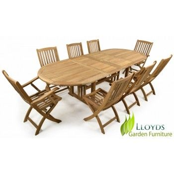 Teak Dining Table 8 Seater Garden Dining Set Double Extendting