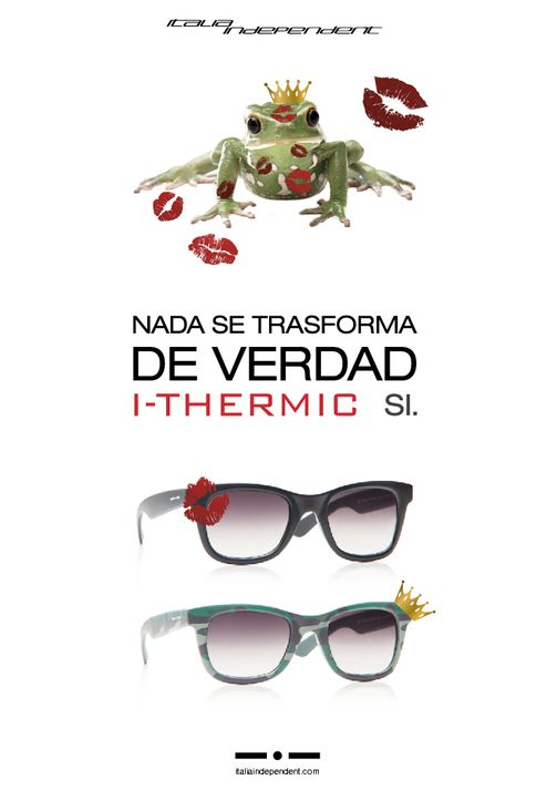 I-Thermic: the first sunglasses that change colour.  Available @ http://www.italiaindependent.com/eng/shops/catalogue/2/Occhiali