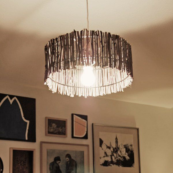 Lamp Made Of Wood Sticks Diy Lamp Shade Wood Lamps Handmade Lighting