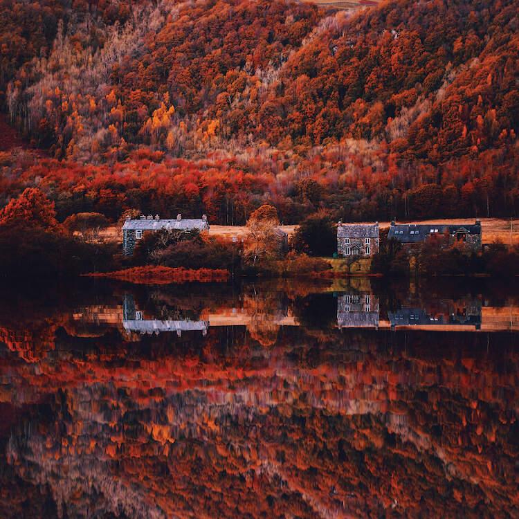 Autumn In Lake District National Park Canvas Print By Hobopeeba Landscape Photos Autumn Photography Landscape