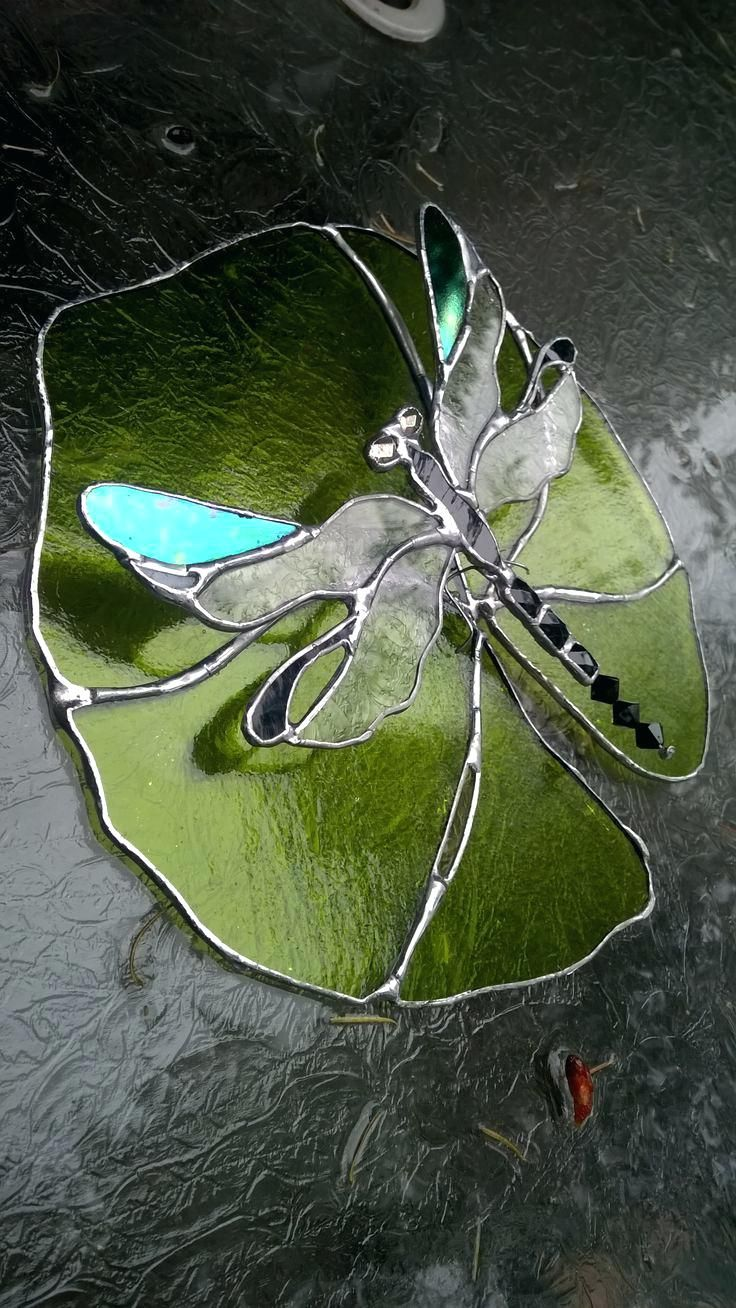 Stained Glass Dragonfly Suncatcher Best Stained Glass Butterflies