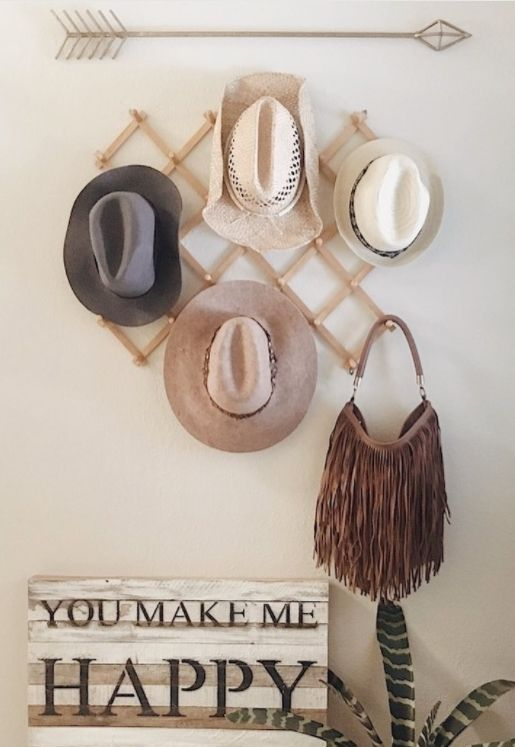 These most creative hat rack ideas may help you doing your hat organization. Save it for later! Tags hat rack ideas hat organization hat storage ... & 50+ DIY Hat Rack Ideas for Your Next Home Project   Diy hat rack ...