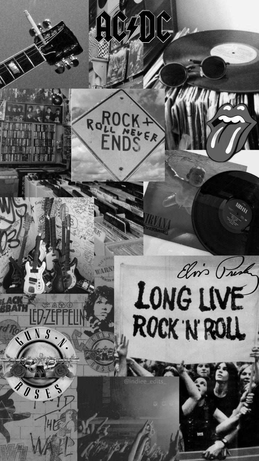 Rock Aesthetic Wallpaper Black Aesthetic Wallpaper Band Wallpapers Rock And Roll