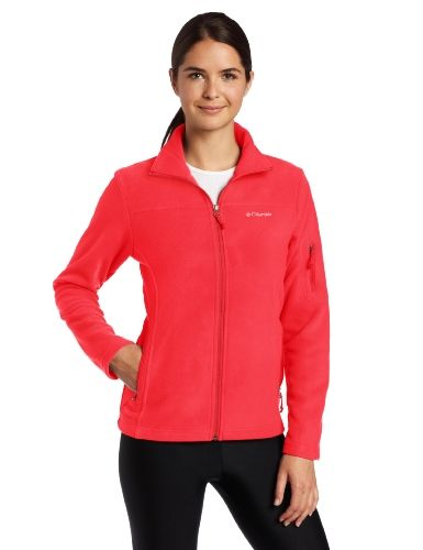 Columbia Women's Fast Trek Ii Full Zip Fleece Jacket, Red Hibiscus ...
