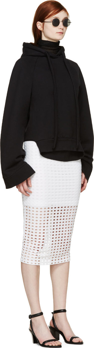 T by Alexander Wang Circular Hole Skirt Size L