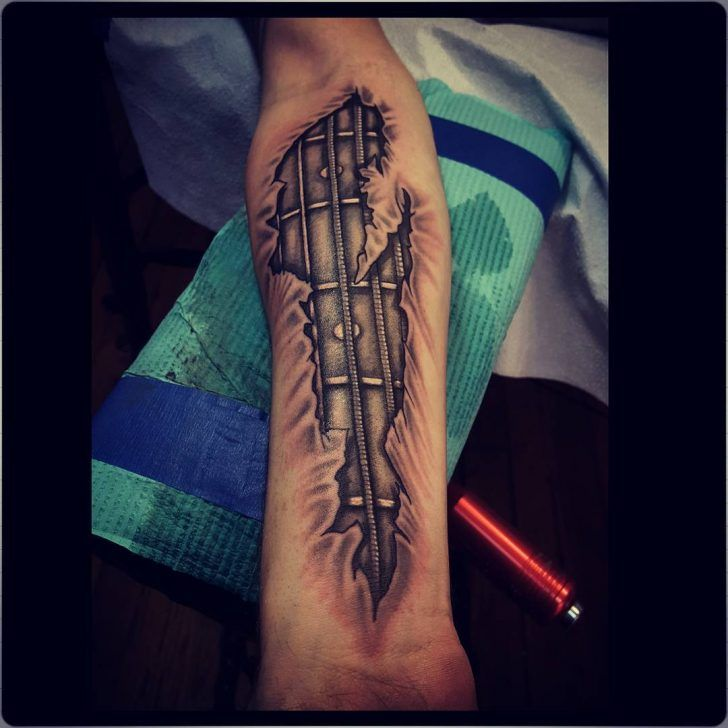 24 Cool Guitar Tattoo Designs