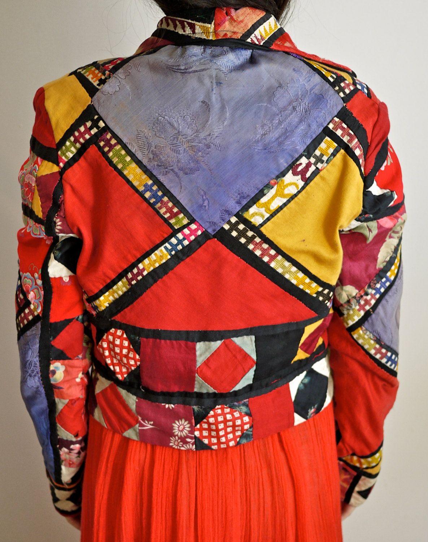 Vintage 70s Patchwork Quilt Jacket. $128.00, via Etsy ... : wearable quilt - Adamdwight.com